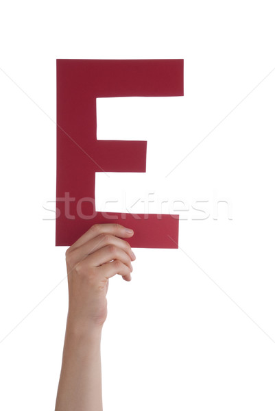 Hand With Letter E Stock photo © Nelosa