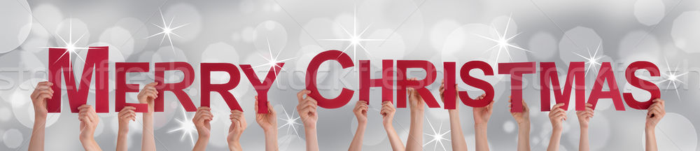 People Holding Merry Christmas Stock photo © Nelosa