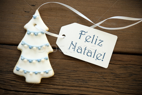 Blue Feliz Natale as Christmas Greeting Stock photo © Nelosa