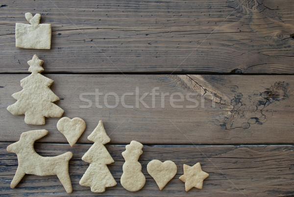 Ginger Bread Frame for Wooden Background Stock photo © Nelosa