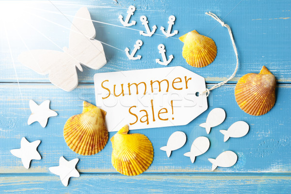 Sunny Greeting Card With Text Summer Sale Stock photo © Nelosa