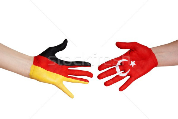 german and turkish partnership Stock photo © Nelosa