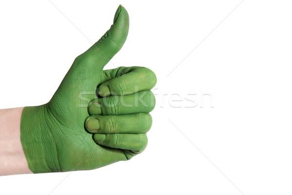 green hand showing thumb up Stock photo © Nelosa