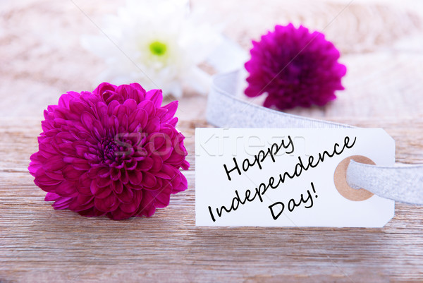 Flowers with Happy Independence Day Stock photo © Nelosa