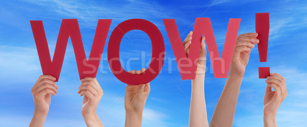 Persone mani tenere rosso dritto parola Foto d'archivio © Nelosa