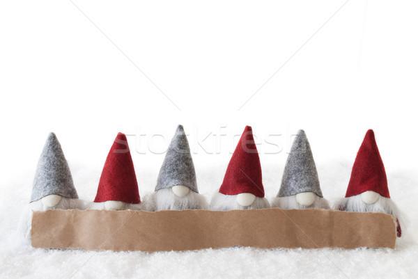 Branco cópia espaço etiqueta anúncio natal cartão Foto stock © Nelosa