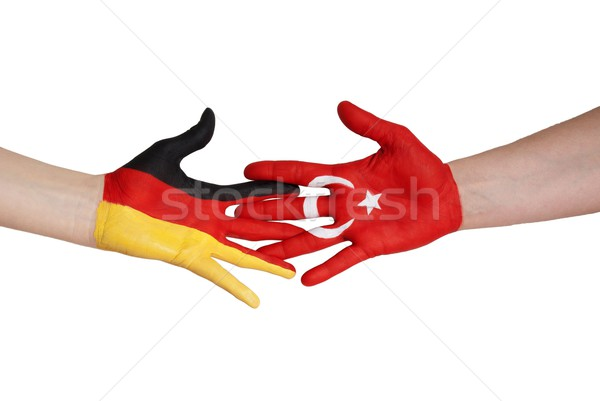 germany and turkey giving hands Stock photo © Nelosa