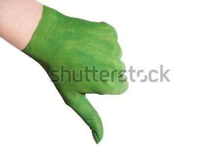 green hand with thumbs down Stock photo © Nelosa