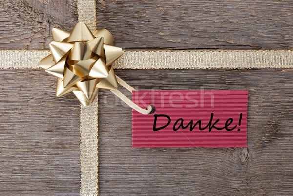 Danke on a gift label Stock photo © Nelosa