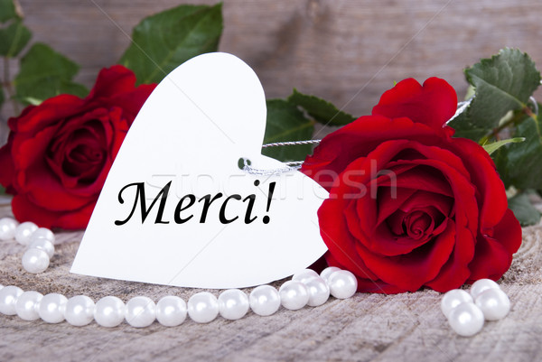 Stock photo: Background with Merci