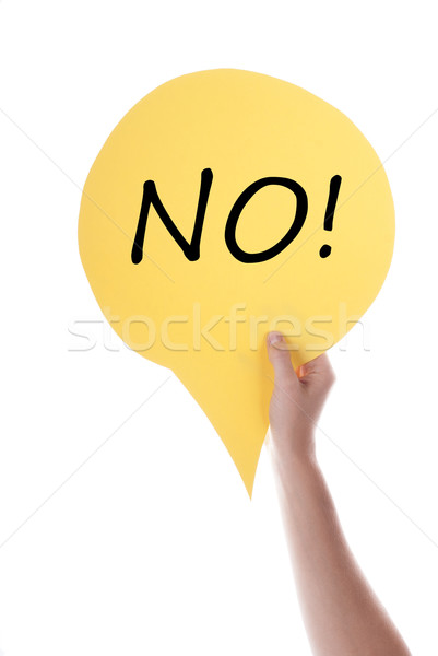 Yellow Speech Balloon With No Stock photo © Nelosa
