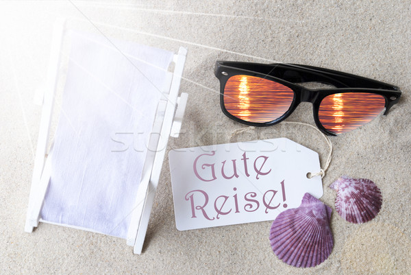 Sunny Flat Lay Summer Label Gute Reise Means Good Trip Stock photo © Nelosa