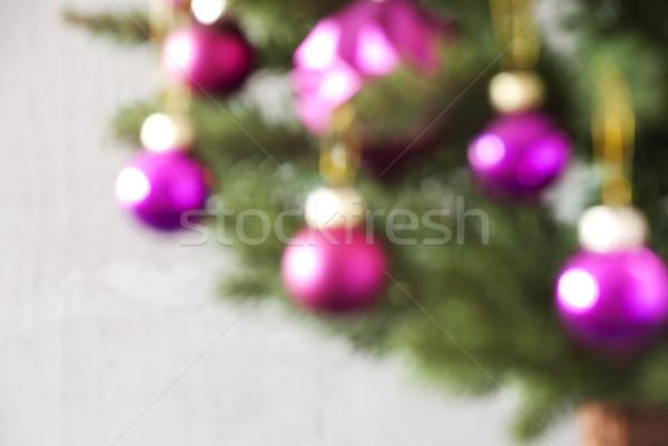 Blurry Balls Which Are Rose Quartz Colored, Christmas Tree Stock photo © Nelosa