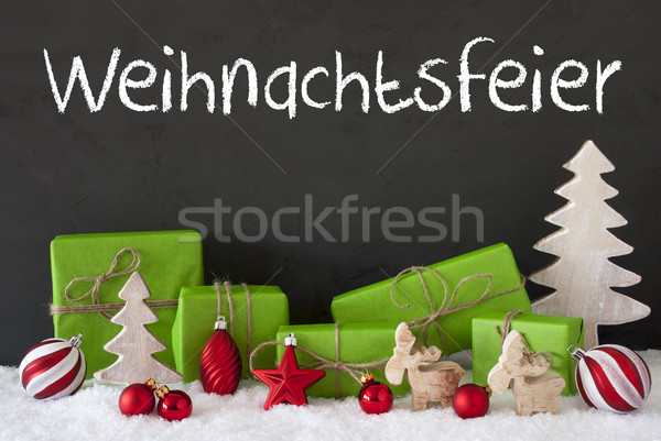 Decoration, Cement, Snow, Weihnachtsfeier Means Christmas Party Stock photo © Nelosa