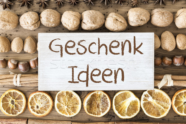 Christmas Food Flat Lay, Geschenk Ideen Means Gift Ideas Stock photo © Nelosa
