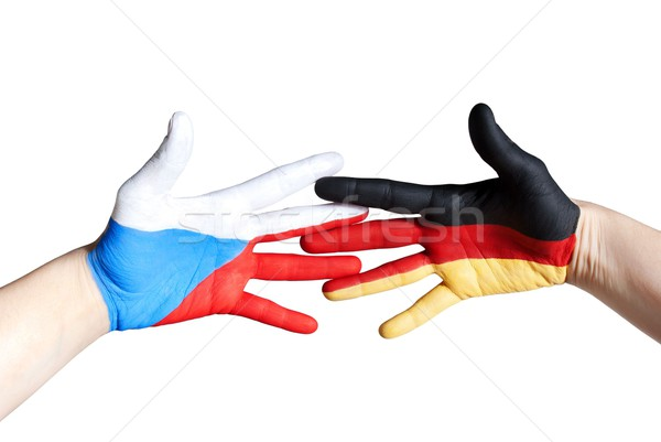 czech and german hand Stock photo © Nelosa