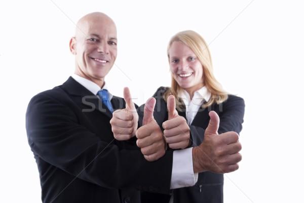 Squadra di affari felice isolato business sorriso Foto d'archivio © Nelosa