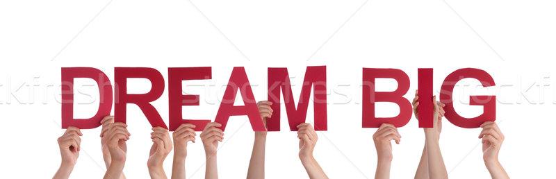 Foto stock: Pessoas · sonho · grande · muitos · palavras
