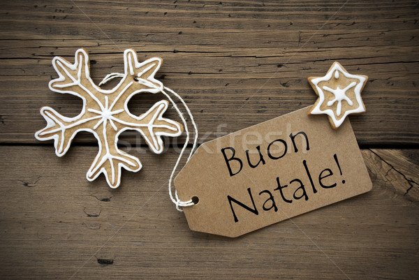 Italian Christmas Greetings with Ginger Breads Stock photo © Nelosa