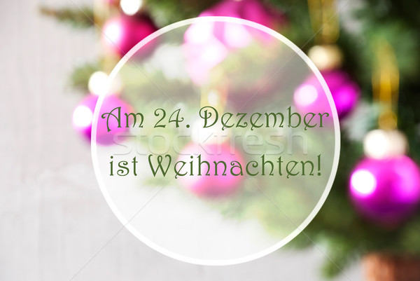Blurry Balls, Rose Quartz, Weihnachten Means Christmas Stock photo © Nelosa