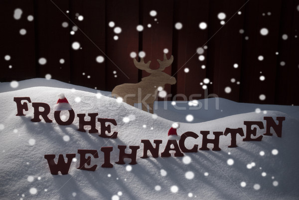 Allegro Natale Moose rosso lettere costruzione Foto d'archivio © Nelosa