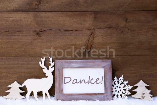 Shabby Chic Christmas Card With Danke Means Thank You Stock photo © Nelosa