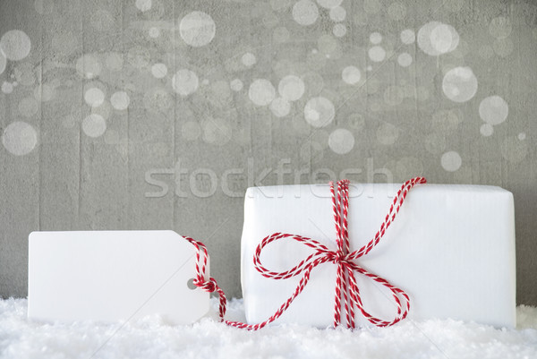 Ajándék cement bokeh copy space egy karácsony Stock fotó © Nelosa