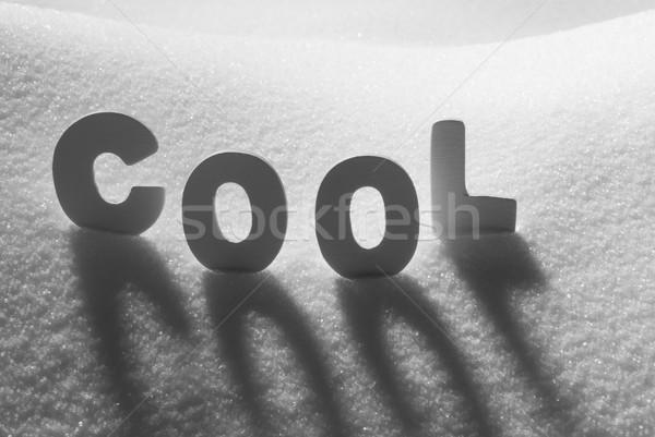 White Word Cool On Snow Stock photo © Nelosa