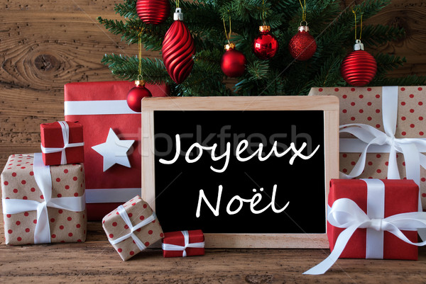 Colorful Tree, Joyeux Noel Means Merry Christmas Stock photo © Nelosa