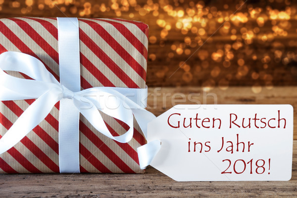 Atmospheric Christmas Gift Guten Rutsch 2018 Means New Year Stock photo © Nelosa