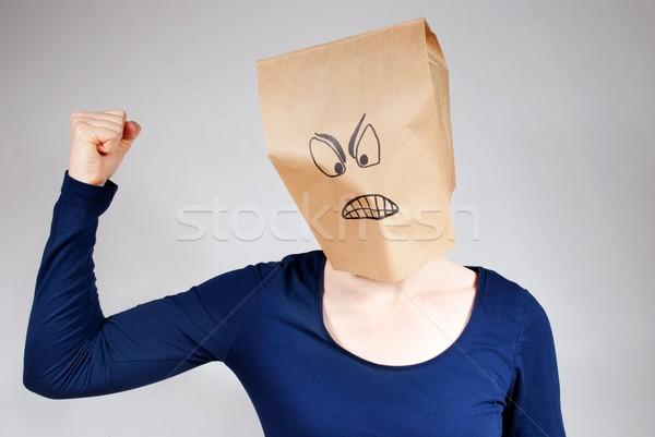 öfkeli kişi kötü kafa Stok fotoğraf © Nelosa
