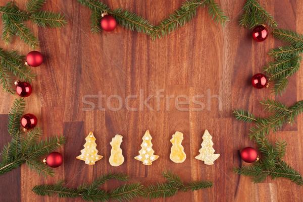 christmas background with decorations Stock photo © Nelosa