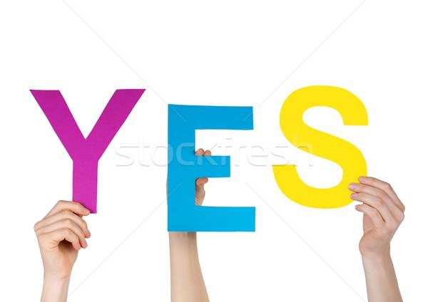 letters saying YES Stock photo © Nelosa