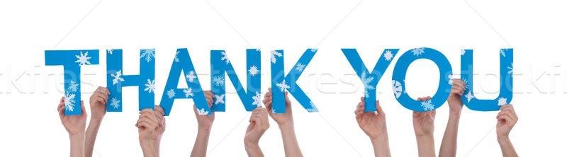 手 ありがとう 多くの 単語 雪 ストックフォト © Nelosa
