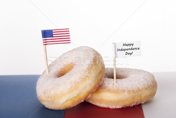 Donuts with Happy INdependence Day Stock photo © Nelosa