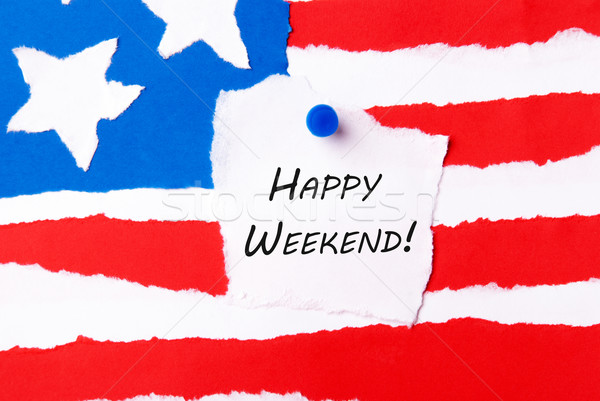 Happy Weekend Note Stock photo © Nelosa