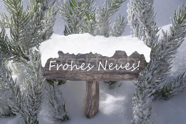 знак снега с Новым годом Рождества Сток-фото © Nelosa
