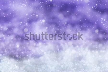 Pourpre Noël neige texture flocons de neige espace de copie Photo stock © Nelosa