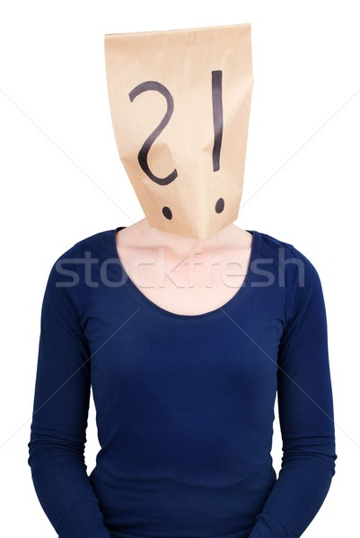 person with a paper bag head Stock photo © Nelosa