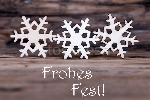 Snowflakes with Frohes Fest Stock photo © Nelosa