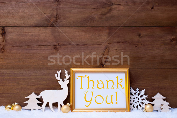 ストックフォト: 白 · 雪 · ありがとう · 画像フレーム