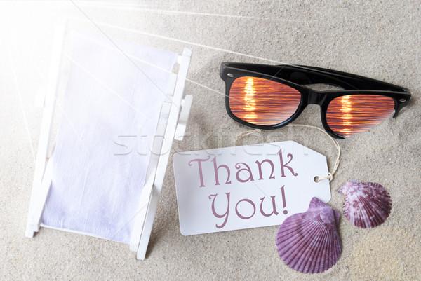 Sunny Flat Lay Summer Label Thank You Stock photo © Nelosa