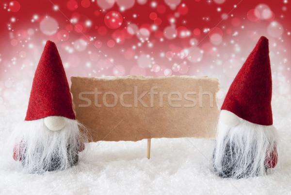 Kırmızı kart bo Noel tebrik kartı iki Stok fotoğraf © Nelosa