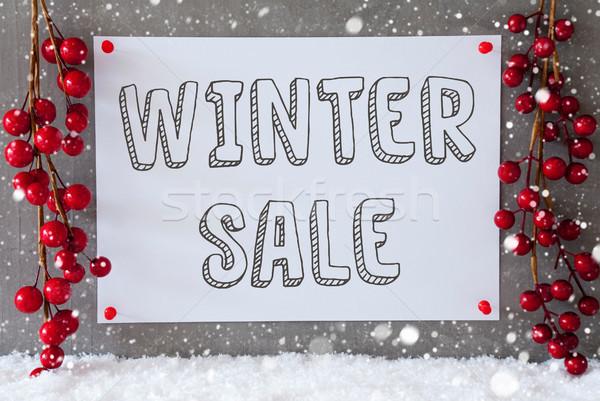 Stock photo: Label, Snowflakes, Christmas Decoration, Text Winter Sale
