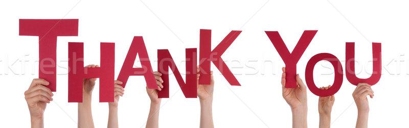 Pessoas obrigado muitos vermelho palavra Foto stock © Nelosa