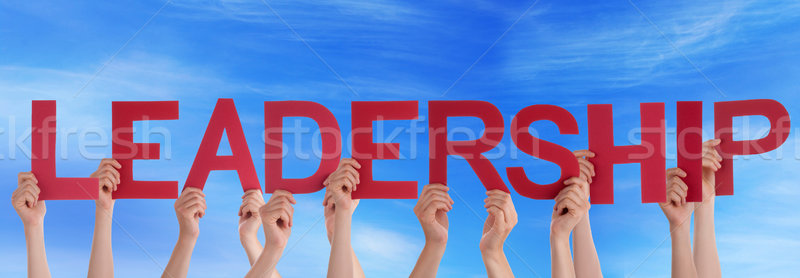 People Holding Leadership in the Sky Stock photo © Nelosa