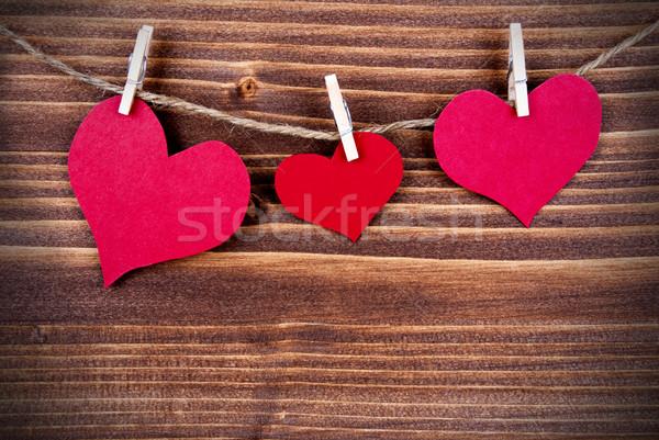 Hearts on a Line, Conceptual Stock photo © Nelosa
