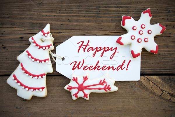 赤 幸せ 週末 白 クリスマス 装飾 ストックフォト © Nelosa