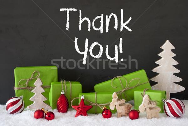 Navidad decoración cemento nieve texto Foto stock © Nelosa
