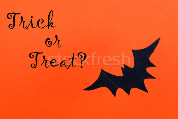 Halloween Background with Trick or Treat Stock photo © Nelosa